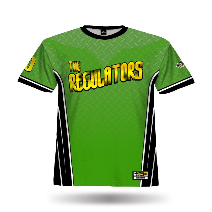 A100 Kelly Green & Black Full Dye Jersey Front
