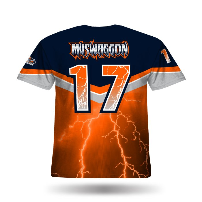 A102 Orange & Navy Full Dye Jersey