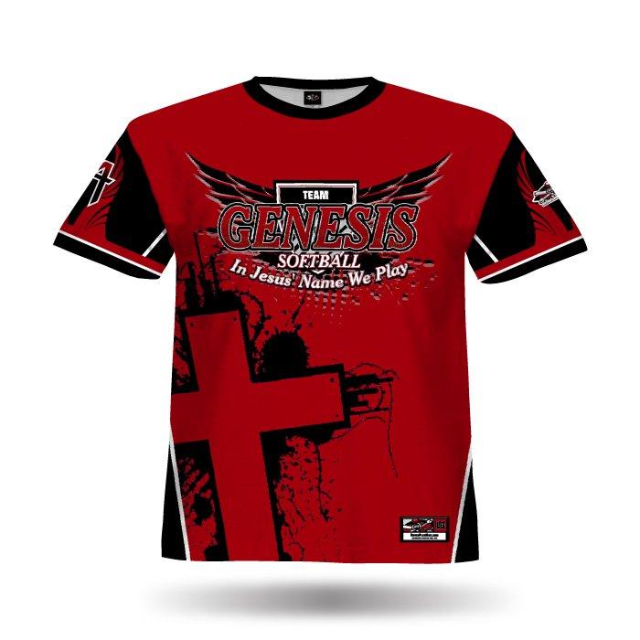Aero Red & Black Full Dye Jersey Front