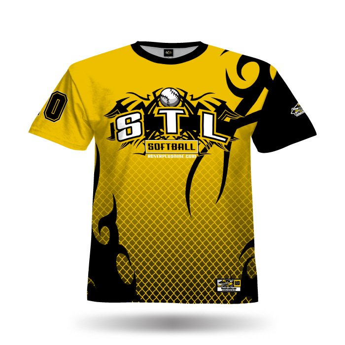Alpha Athletic Gold & Black Full Dye Jersey Front
