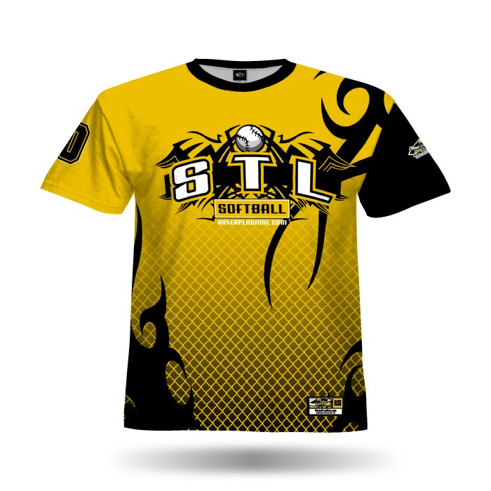 Alpha Athletic Gold & Black Full Dye Jersey