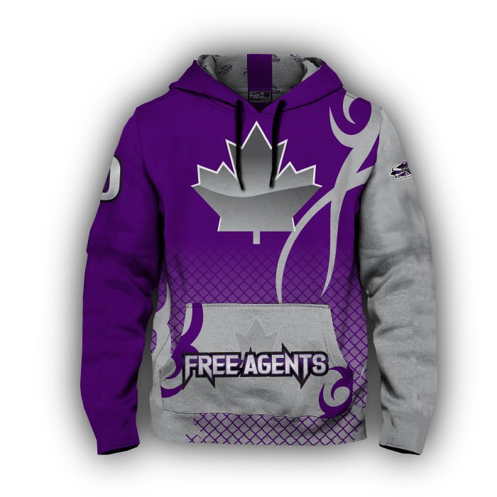Alpha Purple & Grey Full Dye Hoodie