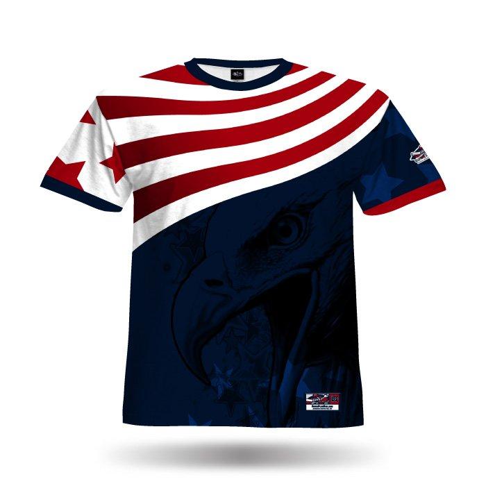 America1 Red & Navy Blank Full Dye Jersey Front