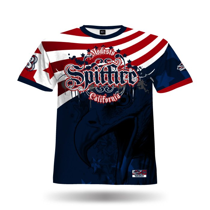 America1 Red & Navy Full Dye Jersey Front