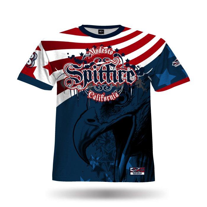 America1 Red & Navy Full Dye Jersey
