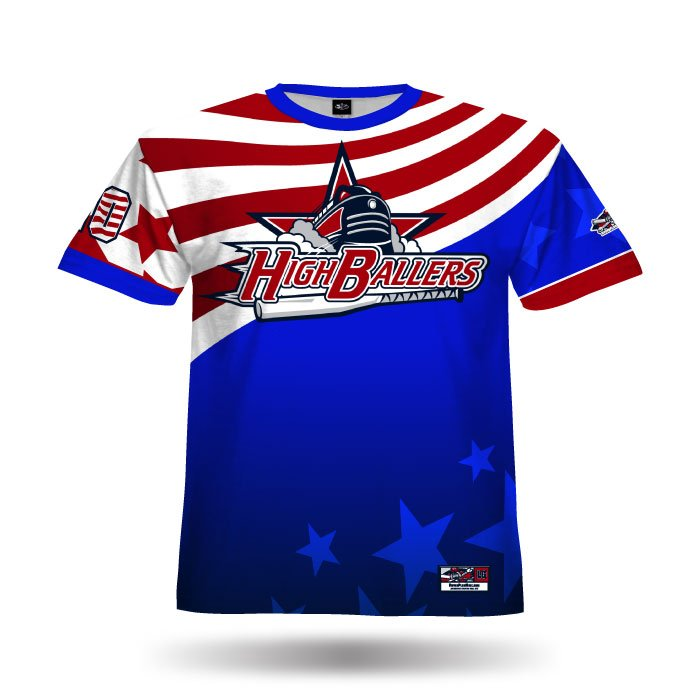 America1 Royal & Red Full Dye Jersey Front