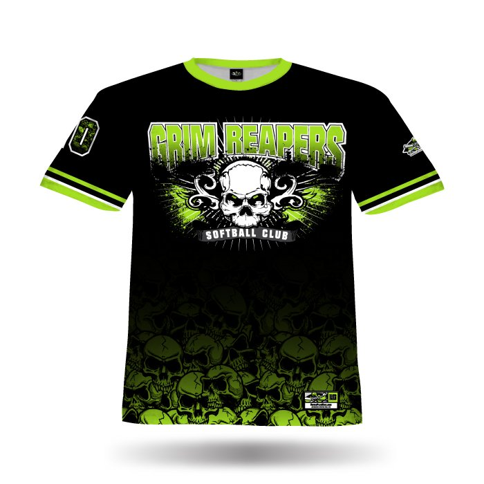Apocalypse Lime & Black Full Dye Jersey