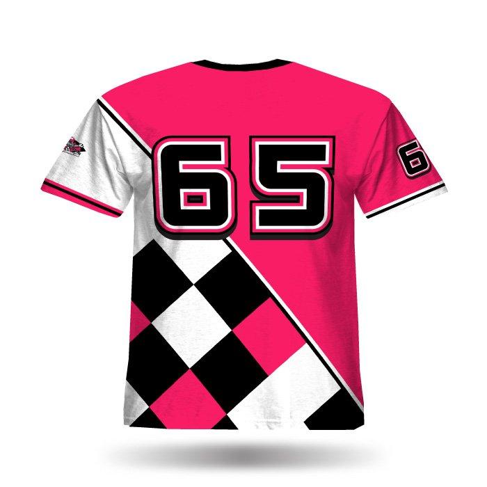 Argyle Pink & Black Full Dye Jersey Back