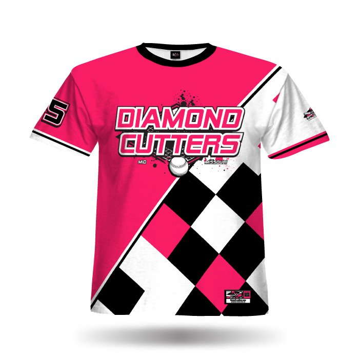 Argyle Pink & Black Full Dye Jersey Front