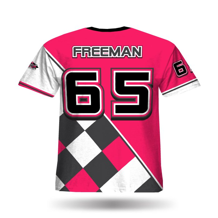Argyle Pink & Steel Grey Full Dye Jersey