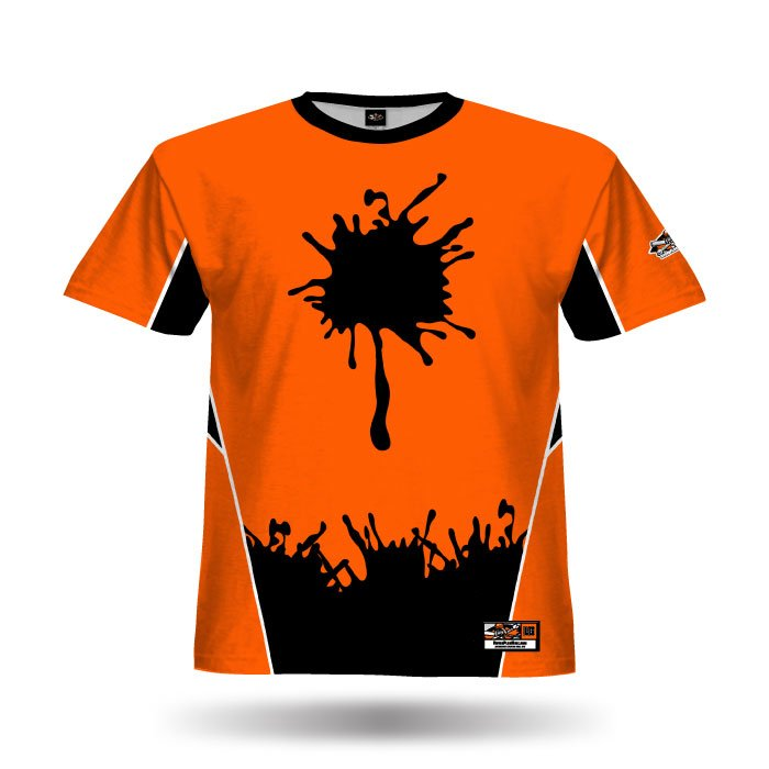 Basher Orange & Black Full Dye Jersey Front