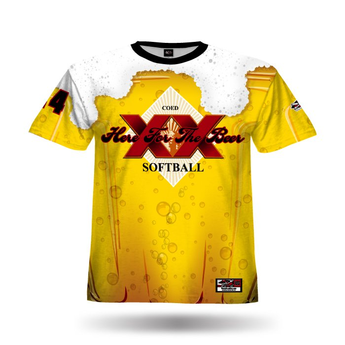 Beer Mug Athletic Gold & Red Full Dye Jersey