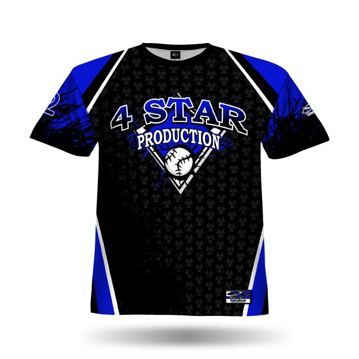 Biohazzard Royal & Black Full Dye Jersey