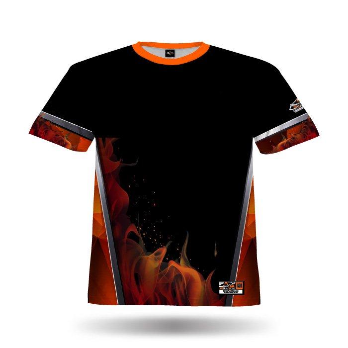 Blaze Orange & Black Full Dye Jersey Blank