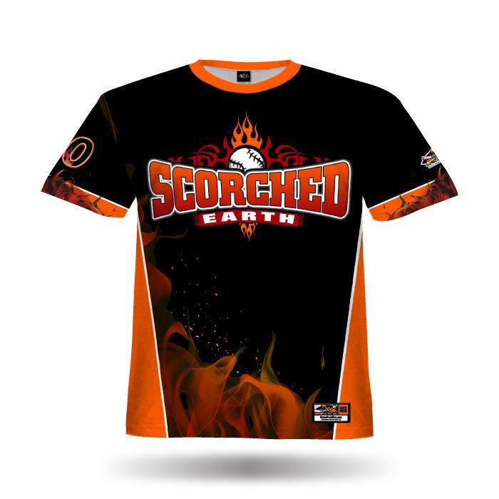 Blaze Orange & Black Full Dye Jersey Front