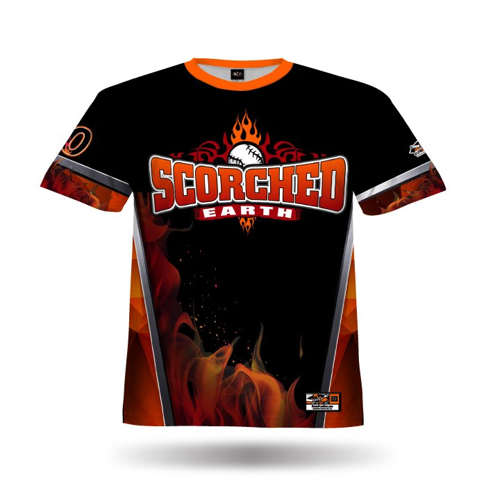 Blaze Orange & Black Full Dye Jersey