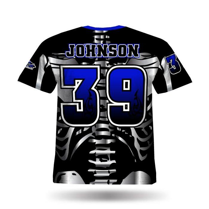 Bones Royal & Black Full Dye Jersey