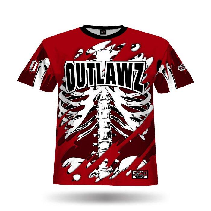 Bones II Red Full Dye Jersey Front