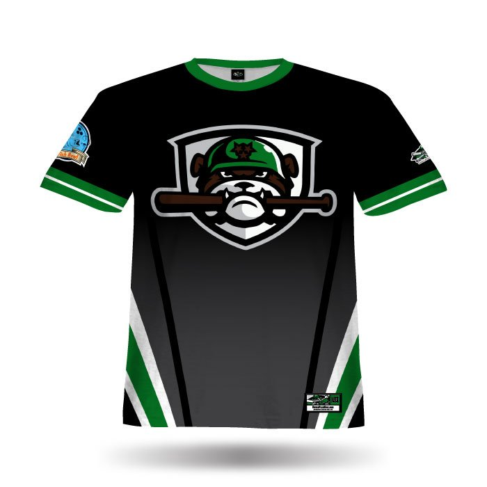 Bravo Black & Dark Green Full Dye Jersey Front