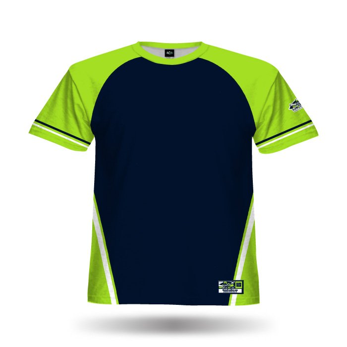 Champ Lime & Navy Full Dye Jersey Front