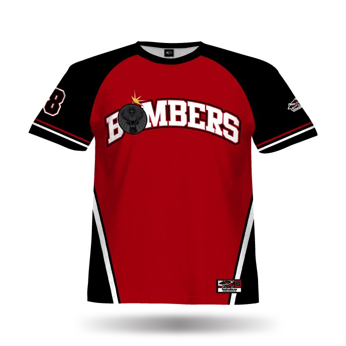 Champ Red & Black Full Dye Jersey Front