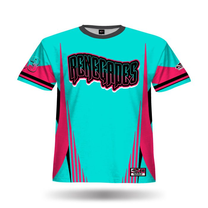 Combat Aqua & Dark Pink Full Dye Jersey Front