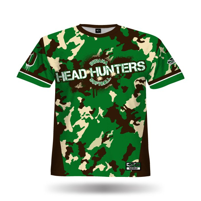 Commando Dark Green & Brown Full Dye Jersey