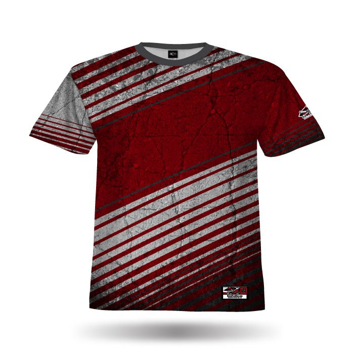 Concrete Red & White Full Dye Blank Jersey Front