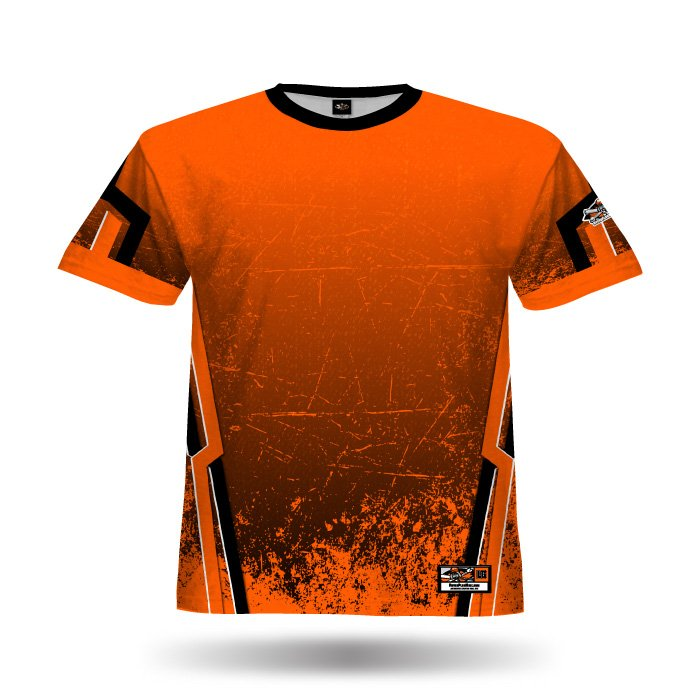 Cracked Orange Full Dye Jersey Front