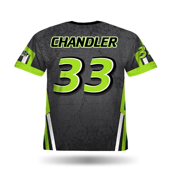 Cracked Lime & Steel Grey Full Dye Jersey