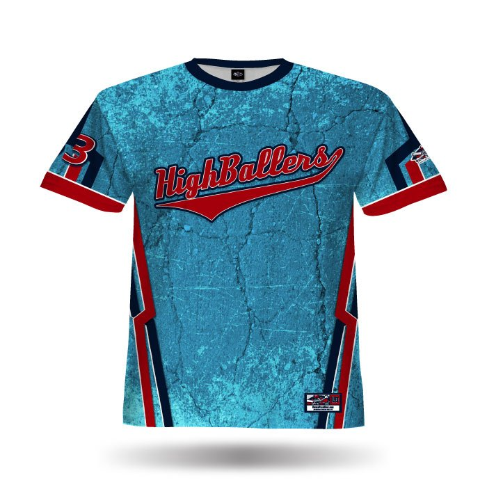 Cracked Columbia & Red Full Dye Jersey Front