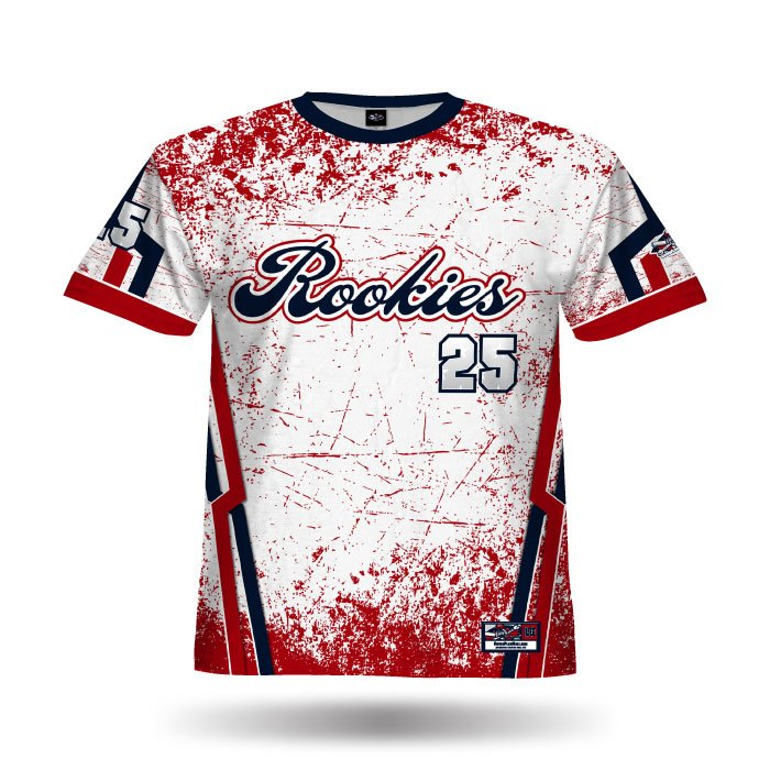 Cracked White & Red Full Dye Jersey Front