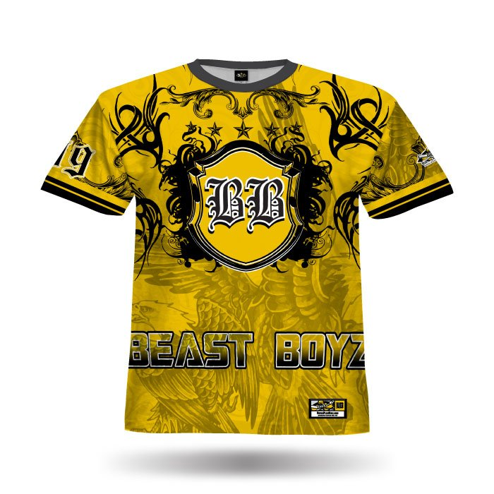Crest Athletic Gold & Black Full Dye Jersey Front
