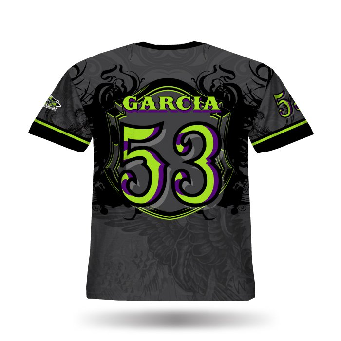 Crest Steel Grey & Lime Full Dye Jersey Back