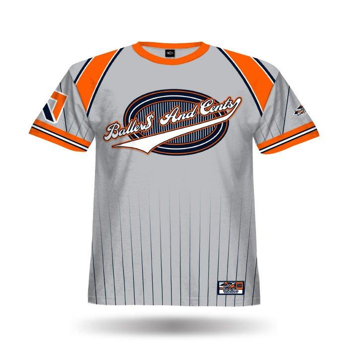 Crush Grey & Orange Full Dye Jersey Front