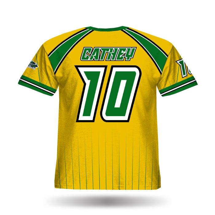 Crush Athletic Gold & Dark Green Full Dye Jersey Back