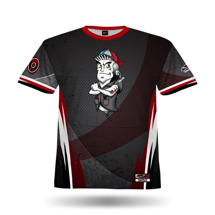 Delta Black & Red Full Dye Jersey Front