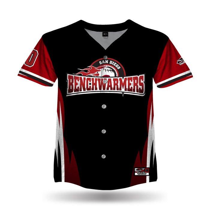 Delta Black & Red Full Dye Full Button Jersey