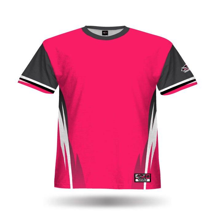 Delta Dark Pink & Steel Grey Blank Full Dye Jersey Front