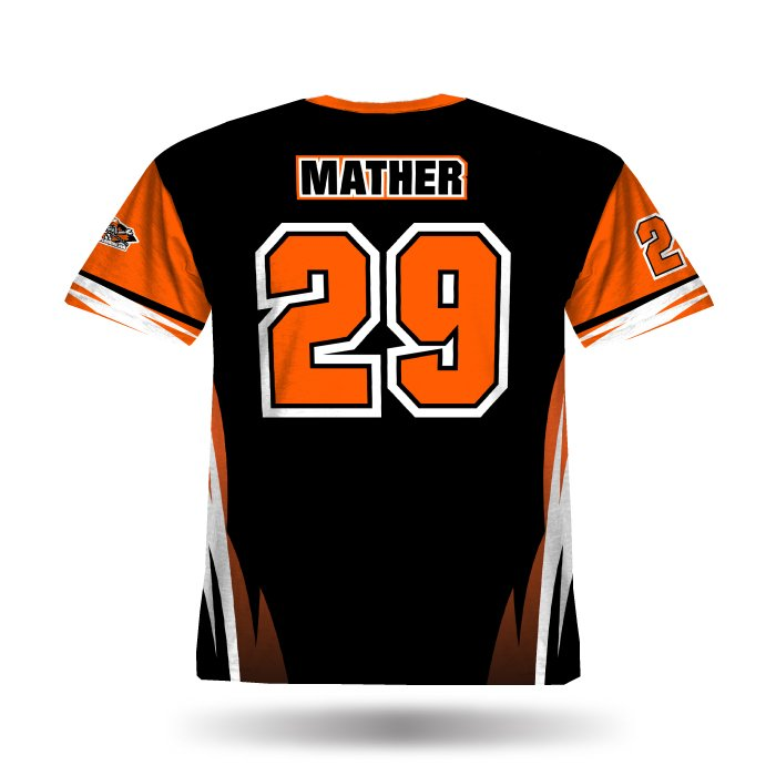 Delta Orange & Black Full Dye Jersey