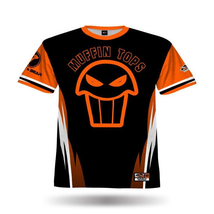 Delta Black & Orange Full Dye Jersey Front