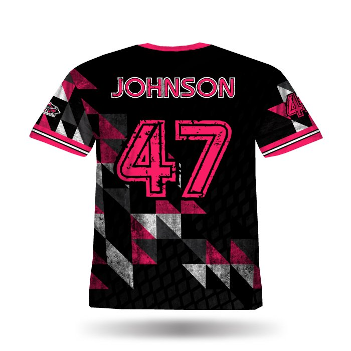 Diamond Argyle Pink & Black Full Dye Jersey Back