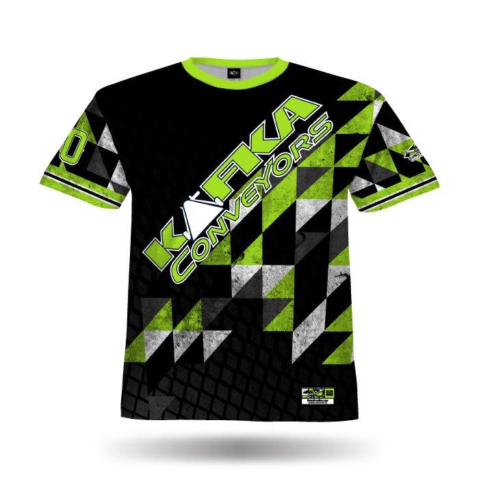 Diamond Argyle Black & Lime Full Dye Jersey Front