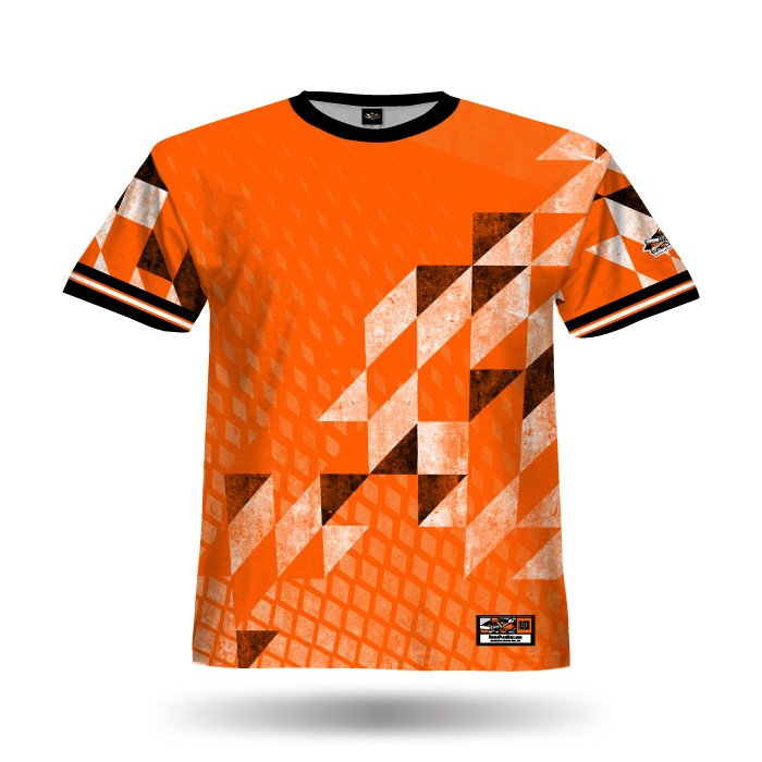 Diamond Argyle Orange Full Dye Jersey Front