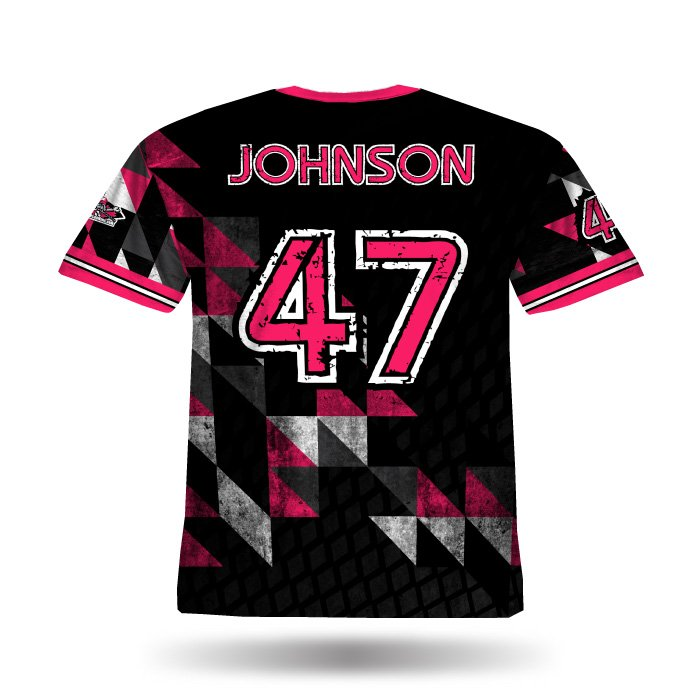 Diamond Argyle Pink & Black Full Dye Jersey Back