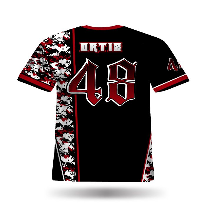 DigiCamo Red & Black Full Dye Jersey
