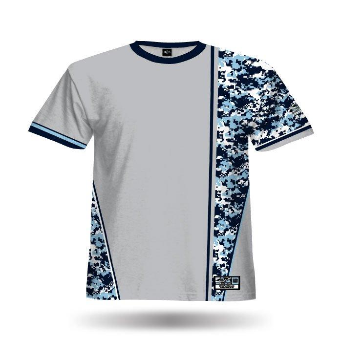 Digi Camo 1 Grey & Columbia Blue Full Dye Jersey Front