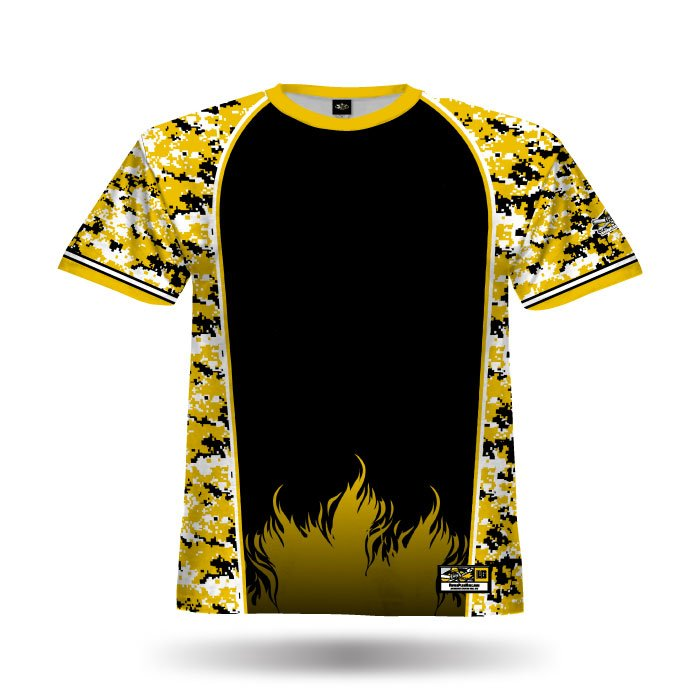 Digi Camo 2 Athletic Gold & Black Full Dye Jersey Front
