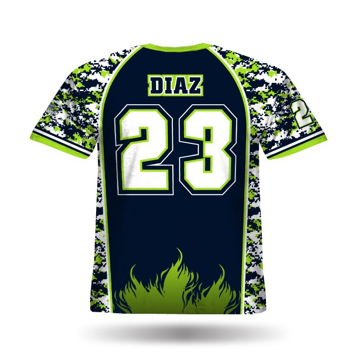 DigiCamo II Lime & Navy Full Dye Jersey