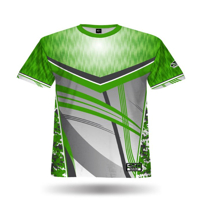 Digi Camo Kelly Green & Steel Grey Full Dye Jersey Front